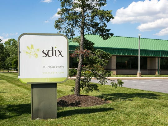 Exterior of SDIX biomedical lab in Newark.