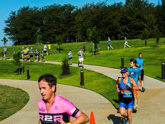 September 16, 2017 - Runners participate in a 5k run