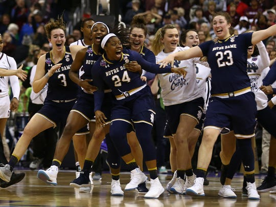 Apr 1, 2018; Columbus, OH, USA; Notre Dame Fighting