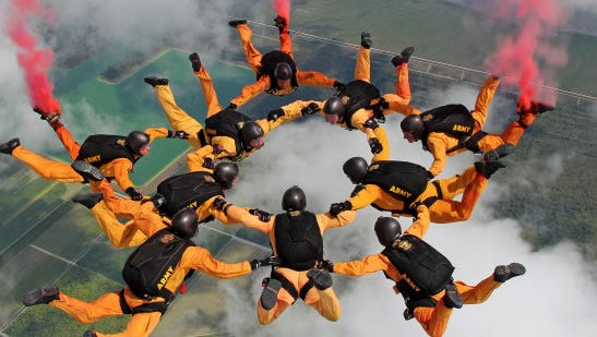 US Army Golden Knights will perform at the Luke AFB Airshow on Saturday and Sunday April 2-3.