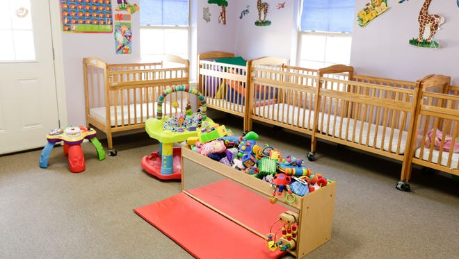 A nursery room at the Creative Learning Preschool and Childcare Center in Lafayette