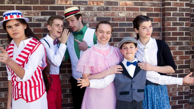 Students from the Mountain Home Christian Academy, along with the Home Style Christian Educators, will present The Music Man this weekend at Dunbar Auditorium. Performances are slated for 7 p.m. Saturday, May 6, and 2 p.m. Sunday, May 7. Admission is free, but donations would be appreciated. Show are cast members: (from left) Tessa Jansen, Easton Peglar, Matt Woods, Heather Grace Spencer, Caleb Norvell and Hayley Woods. A Broadway classic, The Music Man debuted in 1957 and wonfive Tony Awards, including Best Musical, and had for 1,375 performances during its original run.