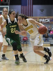 Ashley Neustifter and the UW-Oshkosh women's basketball