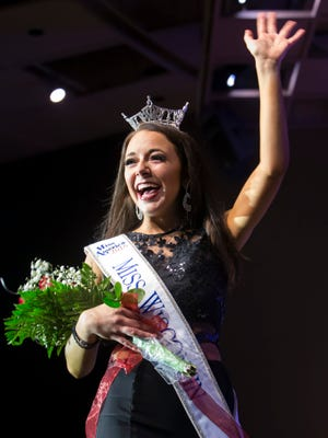 Miss Green Bay Area Courtney Pelot wins the title of Miss Wisconsin 2016 during the Miss Wisconsin Scholarship Pageant on Saturday, June 25, 2016, at Alberta Kimball Auditorium in Oshkosh.