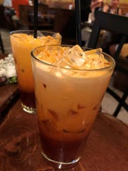 Thai iced tea at Thai Sushi by KJ on Collier Boulevard, Marco Island.
