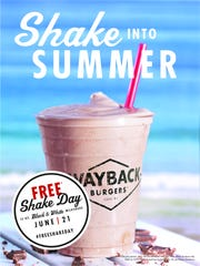Wayback Burgers to give away milkshakes for its Free