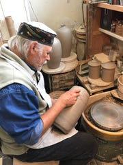 Richard Gruchalla works at his studio in Duluth, Minn.