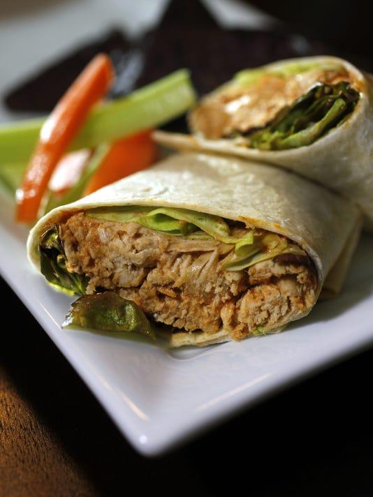 Buffalo chicken burritos