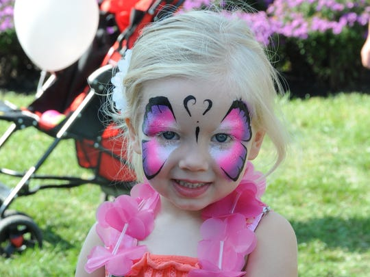 Face painting is among the many popular pursuits for the young (and the young at heart) at the New Freedom Fest.