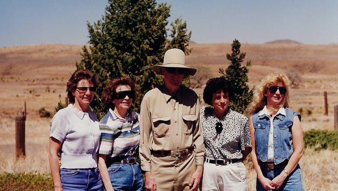 The siblings of so-called Baby Fulstom in Silver City in 1996, when they searched for the baby's grave but were unable to locate it.
