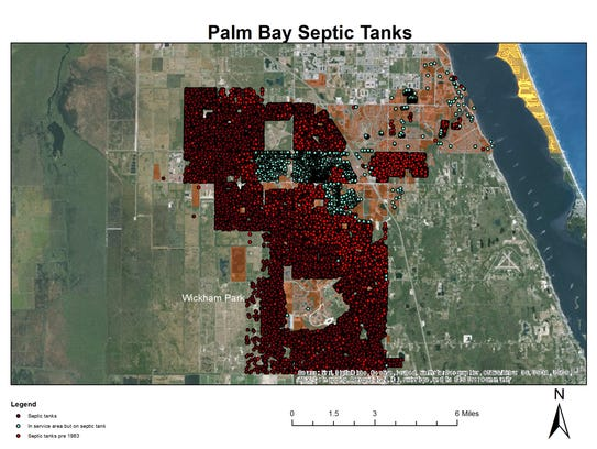 Palm Bay has more than 27,000 septic tanks, many more