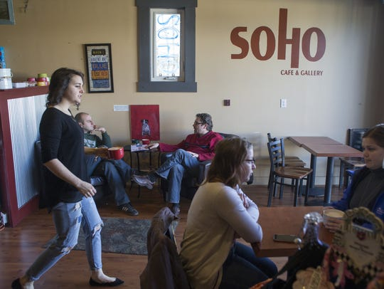 SoHo Cafe & Gallery in Carmel is adjacent to the Monon