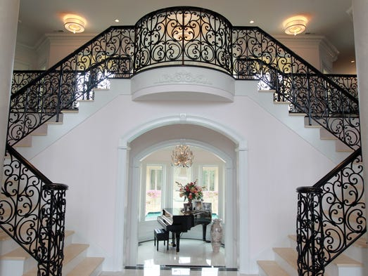 The entranceway of David and Darlene Barnes' Villa Hills home.