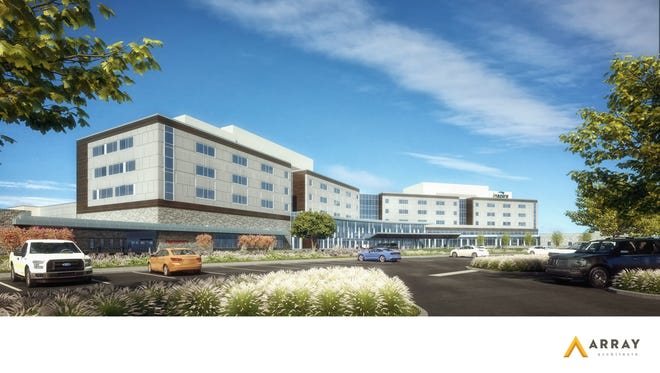 A drawing of the future Inspira hospital in Mullica Hill.