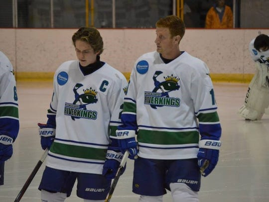 Riverkings forward Tyler Carey, right, is making the