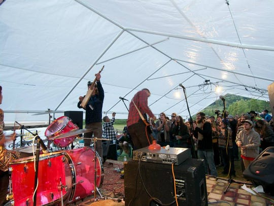 The River Rats perform at Asheville Barnaroo in 2014. This year, the band will perform on Friday.