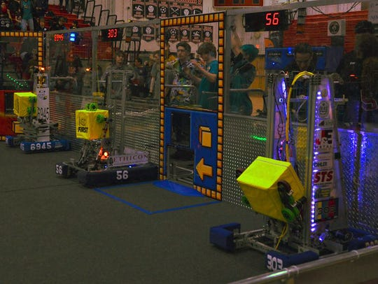 Here is the winning alliance for last weekend's competition