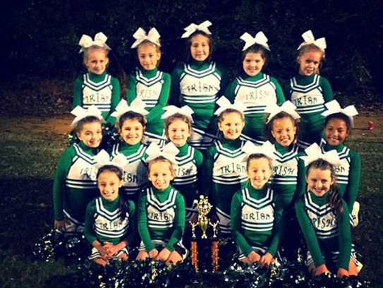 Houston Co. minor cheerleaders took first place in