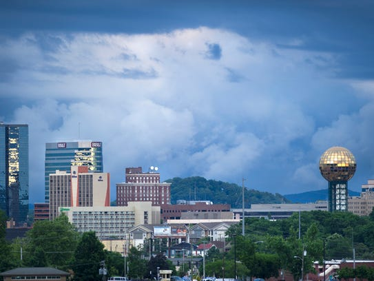Though nestled in the Tennessee Valley, Knoxville still has the highest elevation of Tennessee's four largest cities. (News Sentinel file photo)