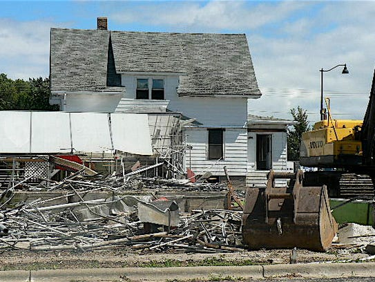 The site after the demolition began.