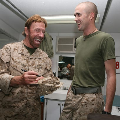 """Actor Chuck Norris  is questioning """"those who are pulling the strings at the top of Jade Helm 15 back in Washington"""" ahead of the SOCOM exercise set for Texas, and a few other southern states, this summer."""