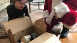St. Nick and St. Hubert's Animal Welfare Center teamed up on Christmas morning to deliver adopted shelter pets to their new homes. IPHONE VIDEO BY WILLIAM WESTHOVEN DEC. 25, 2017
