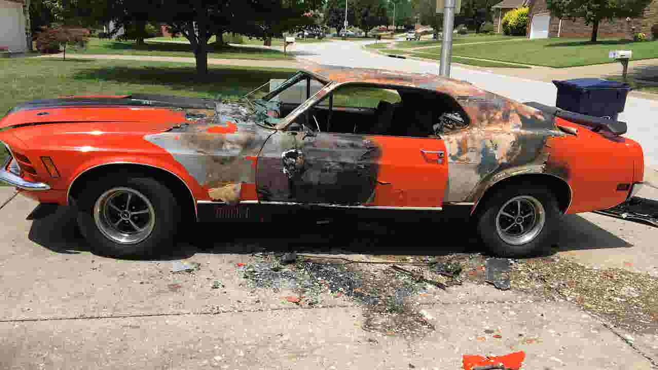 A classic mustang the most prized possession of a springfield boy with a rare disability was torched