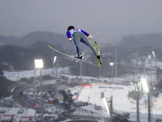 Akito Watabe of Japan competes during the individual