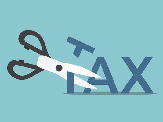 Scissors cutting tax