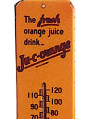 A thermometer bearing both the Krim and Ju-C-Orange