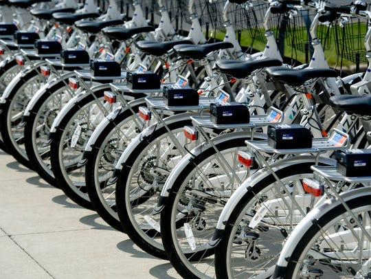 Upgrade Bike Share bicycles are ready for action at