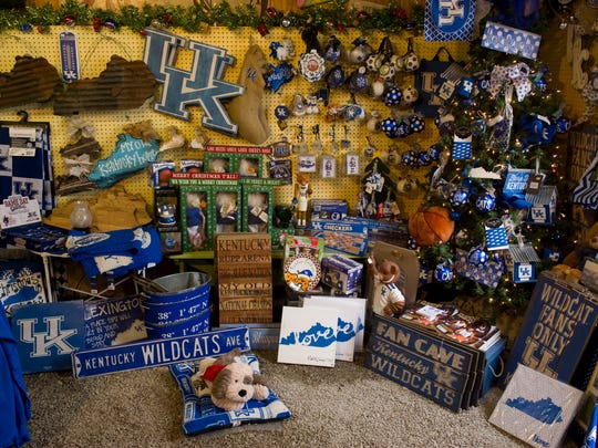 Sweet Pea's Gift Shop has anything and everything a University of Kentucky fan might want.