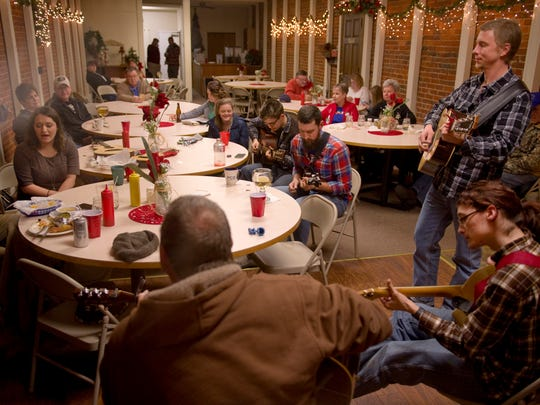 The Gathering Place in Boonville, Ind., hosts the 3rd Thursday Bluegrass Jam where area musicians get together to sing, pick and strum monthly.