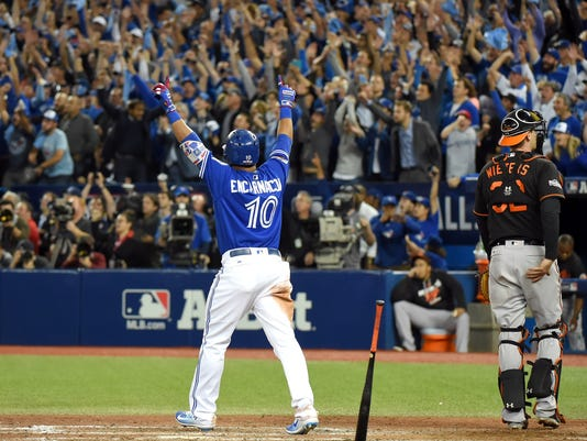 USP MLB: AL WILD CARD-BALTIMORE ORIOLES AT TORONTO S BBA CAN ON
