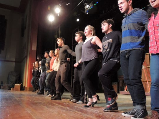"""The company of Clarkstown North High School's production of """"Babes in Arms"""" goes into their dance. Performances of the musical -- which includes thesongs """"My Funny Valentine,"""" """"I Wish I Were in Love Again,"""" """"The Lady is a Tramp,"""" and """"Johnny One Note"""" -- are at 8 p.m., March 13, 14, 20, 21."""