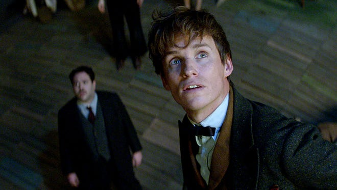 Newt Scamander (Redmayne, right) and Jacob Kowalski (Fogler) in 'Fantastic Beasts and Where to Find Them.'