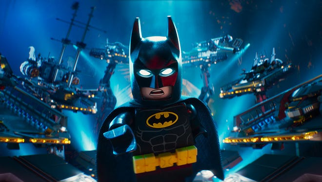 Batman, voiced by Will Arnett, in a scene from 'The Lego Batman Movie'