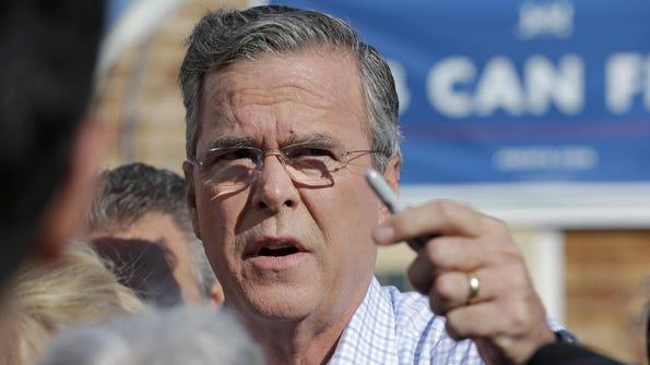 Republican presidential candidate Jeb Bush at a campaign