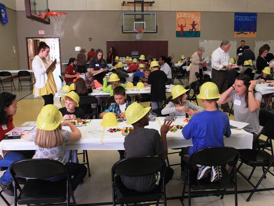 Close to 200 youngsters participated in the construction-themed contest.
