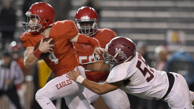 Brentwood Academy quarterback Jeremiah Oatsvall  has been named a finalist for The Tennessean Football Player of the Year award.