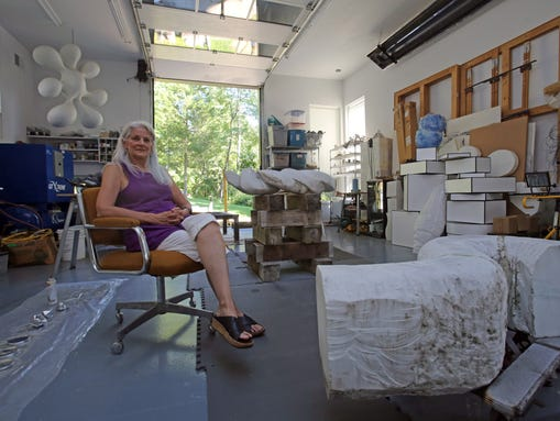 Doris Laughton in her studio in New City. (Photo: Carucha L. Meuse/The Journal News)