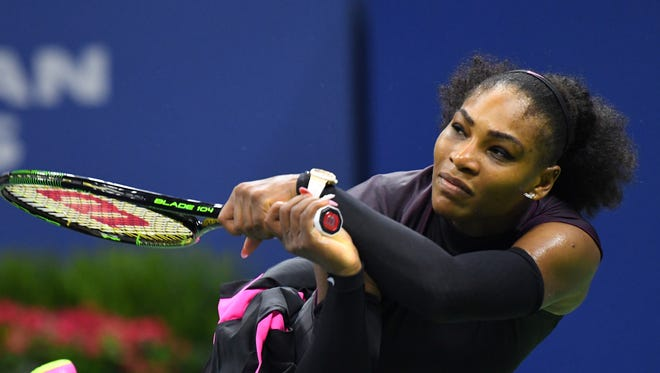 Serena Williams of the USA plays against Karolina Pliskova of the Czech Republic on day eleven of the 2016 U.S. Open tennis tournament at USTA Billie Jean King National Tennis Center.