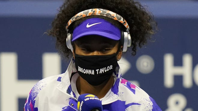 Naomi Osaka wore the names of violence victims on her facemask during U.S. Open matches.