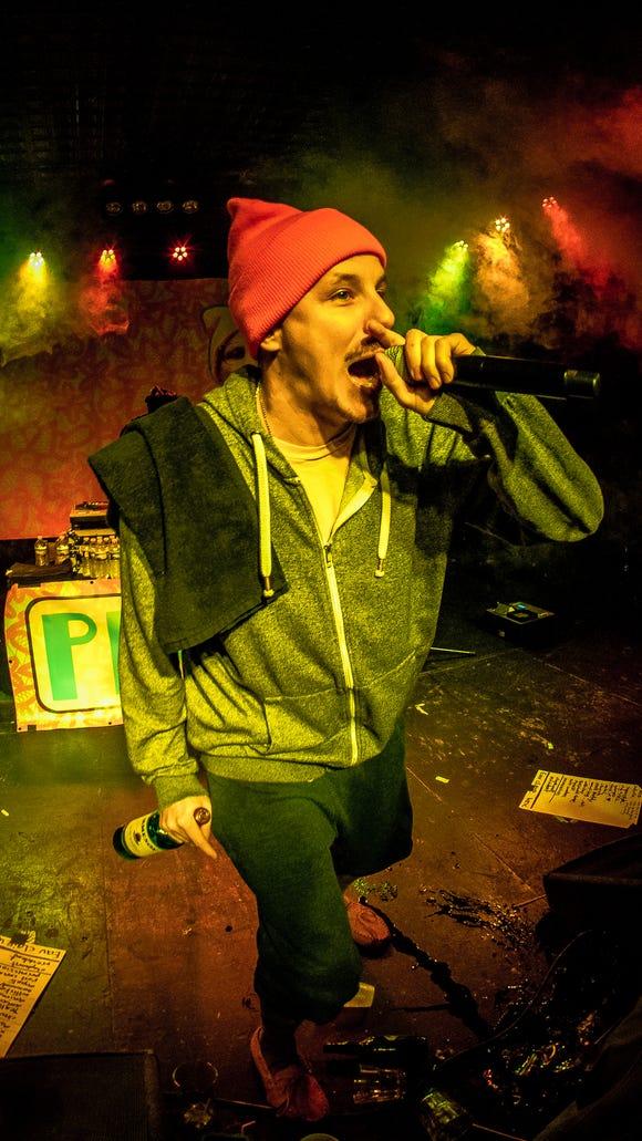 Minneapolis rapper Prof at a recent concert.