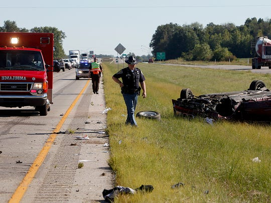 Two people were sent to the hospital Monday afternoon after the car they were in rolled following contact with another vehicle. Both vehicles were driving northbound on the Muncie Bypass late Monday when the accident occurred, according to Delaware County Deputy Dave Brown. None of the victims' injuries were believed to be life-threatening.