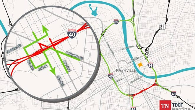 Expect road closures on I-40 due to repair work beginning Friday, July 27 and through Monday morning, July 30.