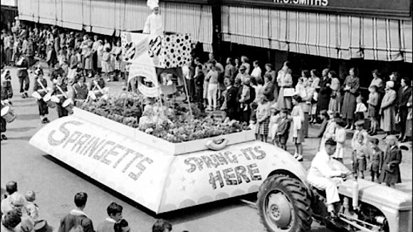 Springetts Float in 1970s Springtime Parade at Bowral, Australia (Photo submitted by Becka Hornsby)