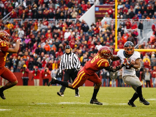 Oklahoma State Cowboys running back Justice Hill returns as one of the Big 12's most talented runners ... along with Iowa State's David Montgomery.