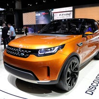 The new Land Rover Discovery is introduced at the show.