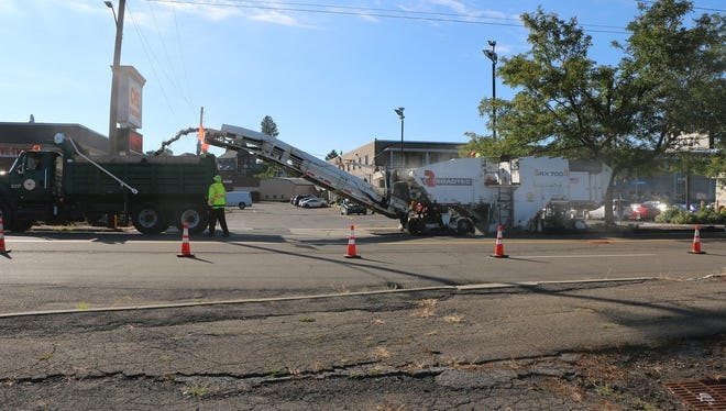 The City of Binghamton began its West State Street paving project Monday.